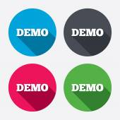 Demo sign icons — Stock Vector