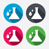 Chemistry sign icons — Vector de stock
