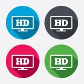 HD widescreen tv. — Stock Vector