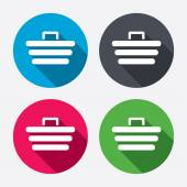 Shopping Cart sign icons — Stockvector