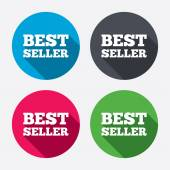 Best seller sign icons — 图库矢量图片
