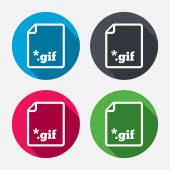 File GIF sign icons — Stock Vector