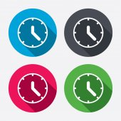 Clock sign icons — Stock Vector