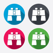 Binocular sign icons — Stock Vector