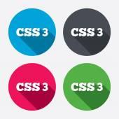CSS3 sign icons — Vector de stock