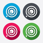 Target aim sign icons — Stock Vector