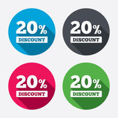 20 percent discount icons — Stock Vector