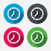 Clock time sign icons — Stock Vector
