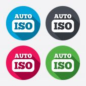 ISO Auto photo camera signs — Stock Vector