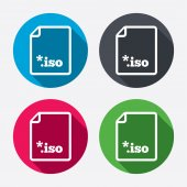 File ISO icons — Stock Vector