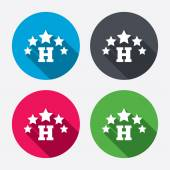 Five star Hotel sign icons — Stock Vector