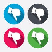 Dislike sign icons — Stock Vector