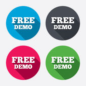 Free Demo sign icons — Stock Vector