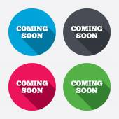 Coming soon icons — Stock Vector