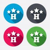 Three star Hotel signs — Stock Vector