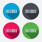 Bar code sign icons — Stock Vector