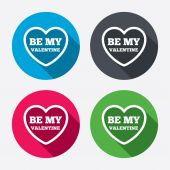 Be my Valentine signs — Stock Vector
