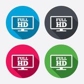 Full hd widescreen tv. — Stock Vector