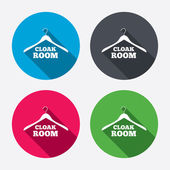 Cloakroom sign icons — Stock Vector