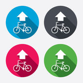 Bicycle path trail signs — ストックベクタ