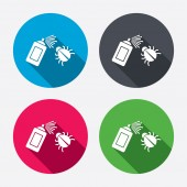 Bug disinfection sign icons — Stock Vector