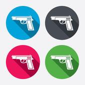 Gun sign icons — Stock Vector