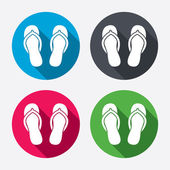 Flip-flops signs — Stock Vector