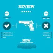 Gun sign — Stock Vector