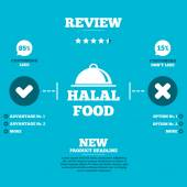 Halal food product sign — Stock Vector