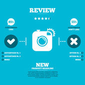 Hipster photo camera Infographic elements — Stock Vector