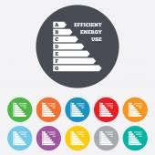 Ikony efektywności energetycznej — Wektor stockowy