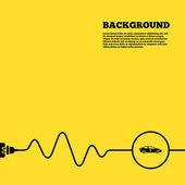 Electric car sign — Stock Vector
