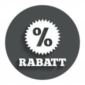 Rabatt - Discounts in German sign — Stockvector