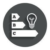 Energy efficiency icon. — Stock Vector