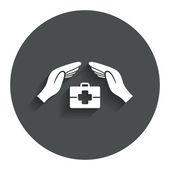 医療保険の記号. — ストックベクタ