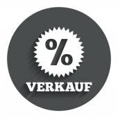 Verkauf - Sale in German icon. — Stockvector