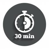 30 minutes stopwatch symbol. — Stock Vector
