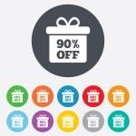 90 percent sale gift box — Stock Vector #62324575