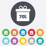 70 percent sale gift box — Stock Vector #62326429