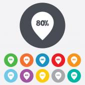 80 percent sale pointer — Stock Vector