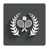 テニス ラケットとボールのアイコン — ストックベクタ