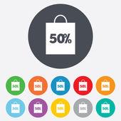 50 percent sale bag — Stock Vector