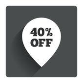 40 percent sale pointer — Stockvector