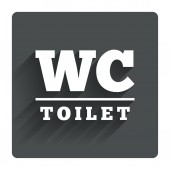 WC Toilet sign — Vector de stock