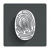 Fingerprint sign — Stock Vector