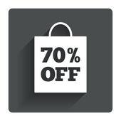70 percent sale bag — Stockvector