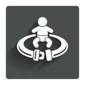 Fasten seat belt icon. — Stock Vector