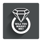 Marry me ring icon. — Stock Vector