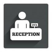 Receptie teken — Stockvector