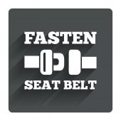 Fasten seat belt sign — Stock Vector